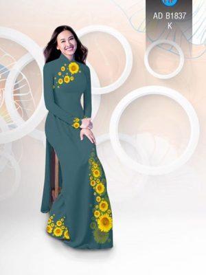 Vải áo dài hoa hướng dương AD B1837 23
