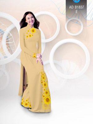 Vải áo dài hoa hướng dương AD B1837 24