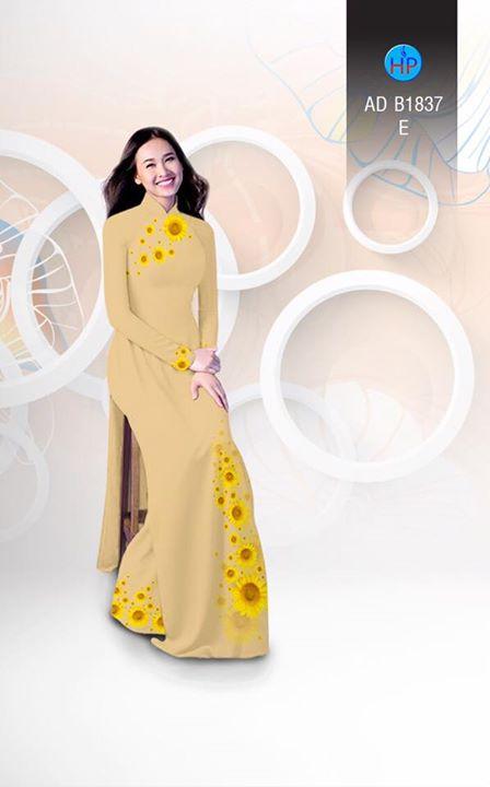 Vải áo dài hoa hướng dương AD B1837 12