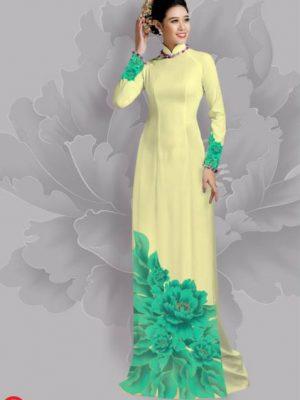 Vải áo dài hoa đẹp dưới tà AD 15