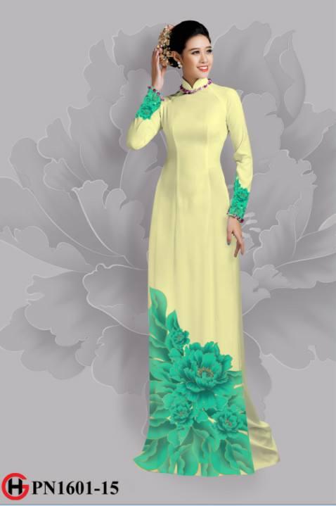 Vải áo dài hoa đẹp dưới tà AD 3