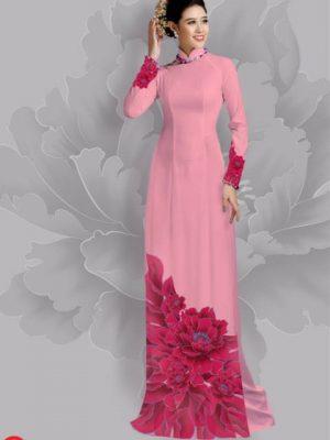 Vải áo dài hoa đẹp dưới tà AD 17