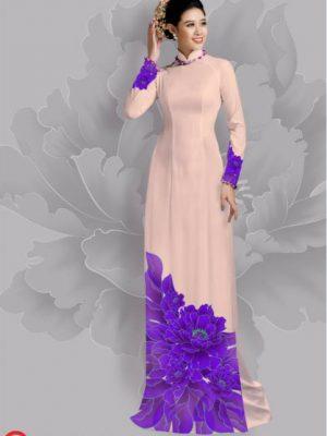 Vải áo dài hoa đẹp dưới tà AD 18