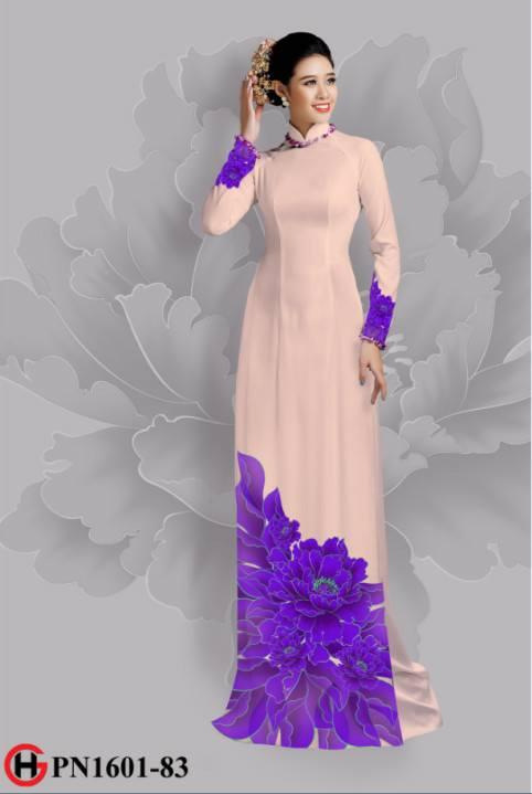 Vải áo dài hoa đẹp dưới tà AD 6