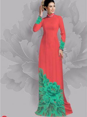 Vải áo dài hoa đẹp dưới tà AD 21