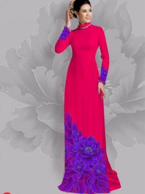 Vải áo dài hoa đẹp dưới tà AD 24