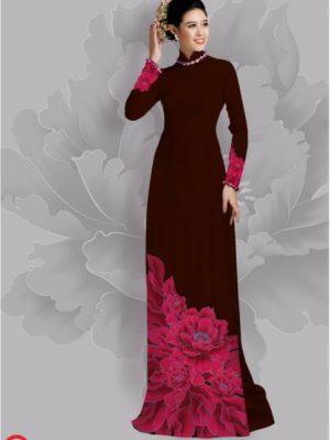 Vải áo dài hoa đẹp dưới tà AD 22