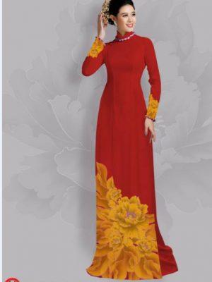 Vải áo dài hoa đẹp dưới tà AD 25