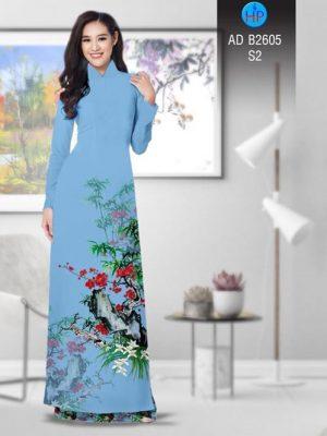 Vải áo dài Hoa in 3D AD B2605 14