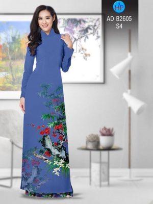 Vải áo dài Hoa in 3D AD B2605 16