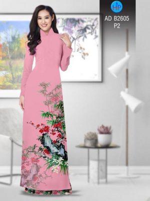 Vải áo dài Hoa in 3D AD B2605 19