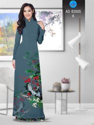 Vải áo dài Hoa in 3D AD B2605 18