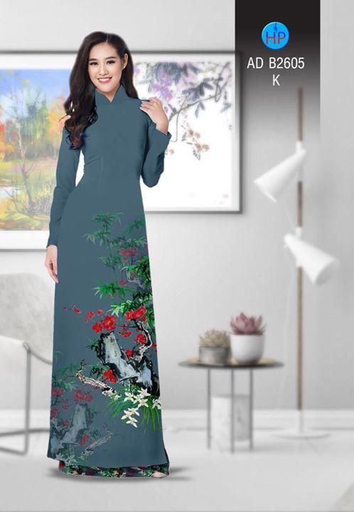 Vải áo dài Hoa in 3D AD B2605 6