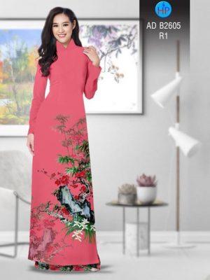 Vải áo dài Hoa in 3D AD B2605 20