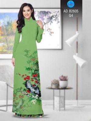 Vải áo dài Hoa in 3D AD B2605 23