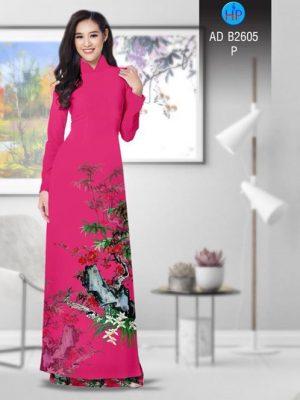 Vải áo dài Hoa in 3D AD B2605 21