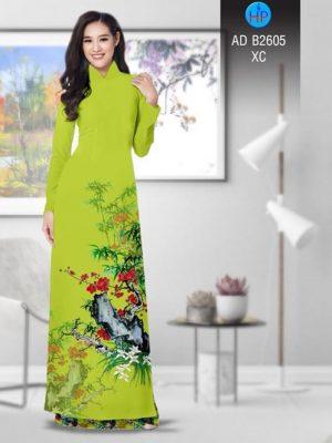Vải áo dài Hoa in 3D AD B2605 22