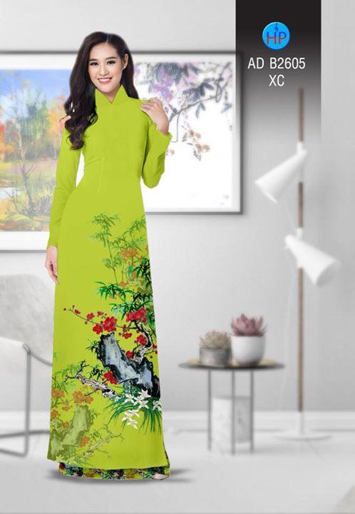 Vải áo dài Hoa in 3D AD B2605 10