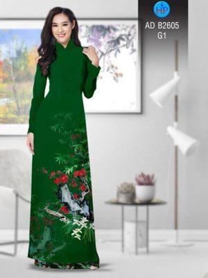 Vải áo dài Hoa in 3D AD B2605 24