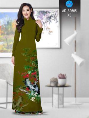 Vải áo dài Hoa in 3D AD B2605 25