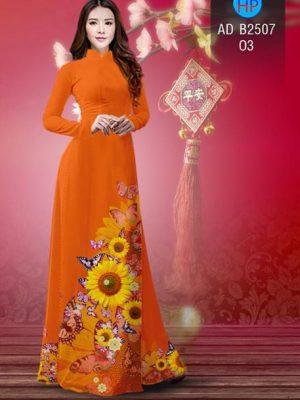 Vải áo dài Hoa hướng dương AD B2507 15