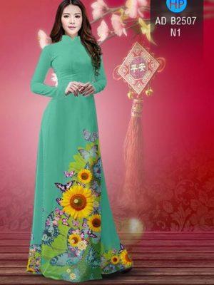 Vải áo dài Hoa hướng dương AD B2507 17