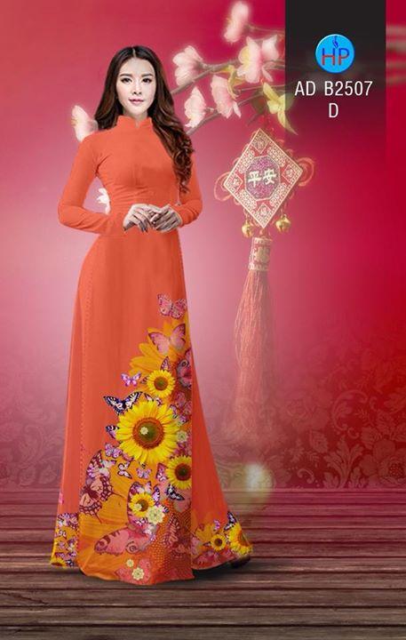 Vải áo dài Hoa hướng dương AD B2507 7