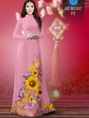 Vải áo dài Hoa hướng dương AD B2507 18