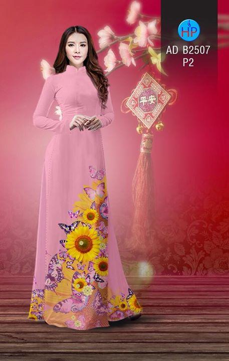 Vải áo dài Hoa hướng dương AD B2507 6