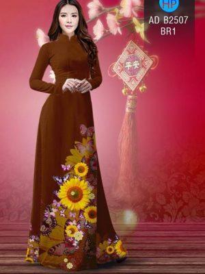 Vải áo dài Hoa hướng dương AD B2507 21