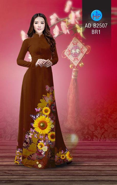 Vải áo dài Hoa hướng dương AD B2507 9
