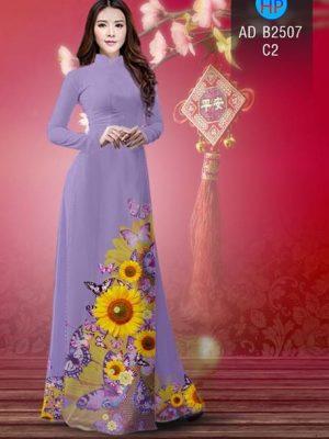 Vải áo dài Hoa hướng dương AD B2507 20