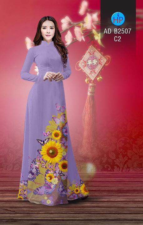 Vải áo dài Hoa hướng dương AD B2507 8