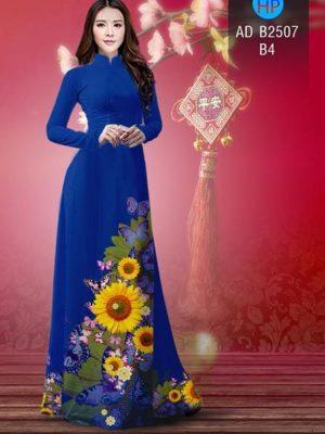 Vải áo dài Hoa hướng dương AD B2507 22