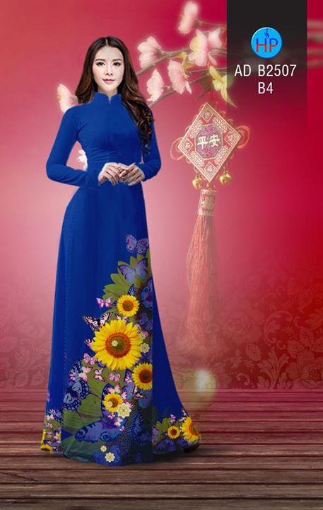 Vải áo dài Hoa hướng dương AD B2507 10