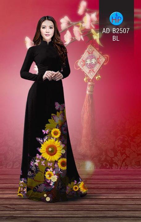 Vải áo dài Hoa hướng dương AD B2507 11