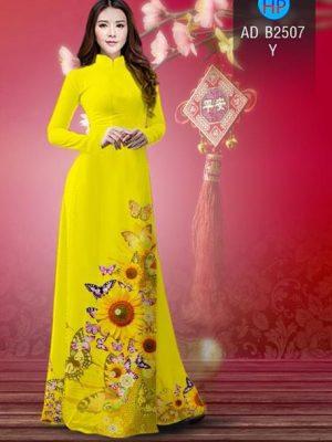 Vải áo dài Hoa hướng dương AD B2507 24