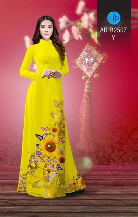 Vải áo dài Hoa hướng dương AD B2507 12