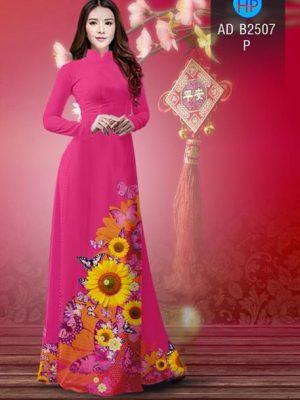 Vải áo dài Hoa hướng dương AD B2507 25