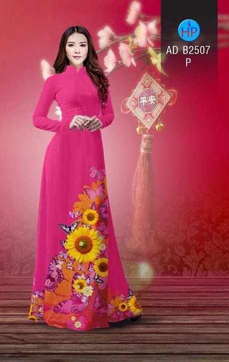 Vải áo dài Hoa hướng dương AD B2507 13