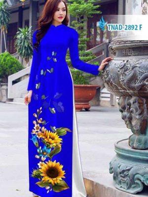 Vải áo dài hoa hướng dương AD TNAD 2892 14