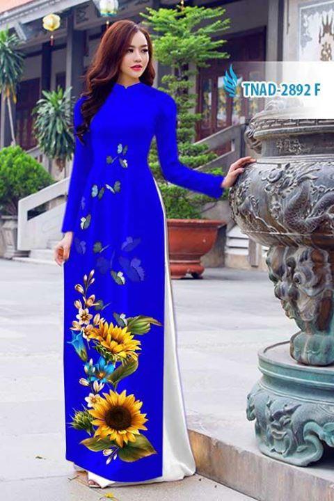 Vải áo dài hoa hướng dương AD TNAD 2892 2
