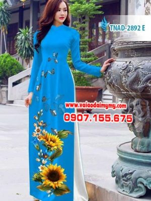 Vải áo dài hoa hướng dương AD TNAD 2892 13