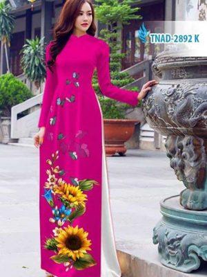 Vải áo dài hoa hướng dương AD TNAD 2892 15