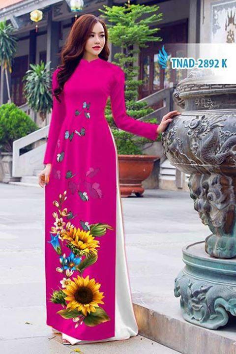 Vải áo dài hoa hướng dương AD TNAD 2892 3