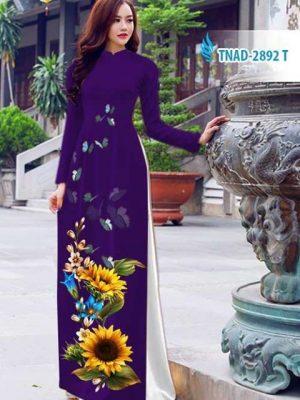 Vải áo dài hoa hướng dương AD TNAD 2892 16