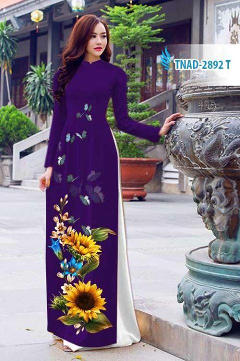 Vải áo dài hoa hướng dương AD TNAD 2892 4