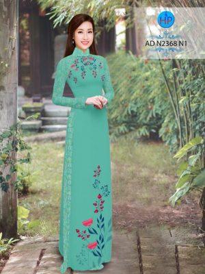 Vải áo dài hoa hướng dương AD TNAD 2892 17