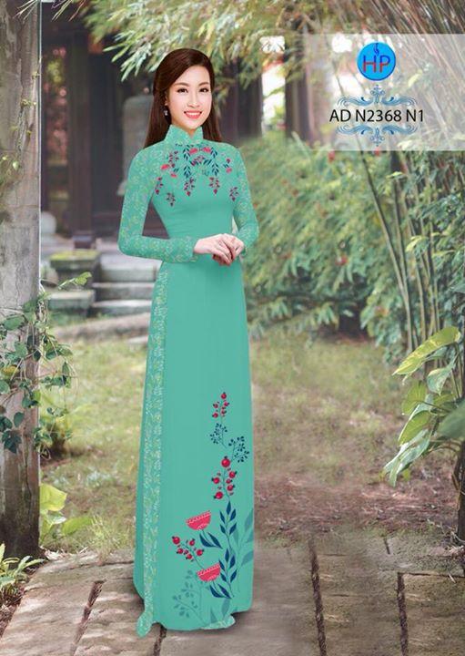 Vải áo dài hoa hướng dương AD TNAD 2892 5
