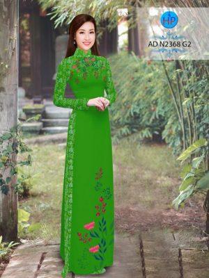 Vải áo dài hoa hướng dương AD TNAD 2892 18